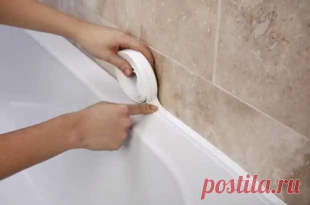 Чем замазать стык между стеной и ванной, чтобы вода не заливалась за бортик - Квартира, дом, дача - медиаплатформа МирТесен
