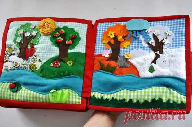 Детская книга со сказками из обрезков ткани для развития малыша - медиаплатформа МирТесен