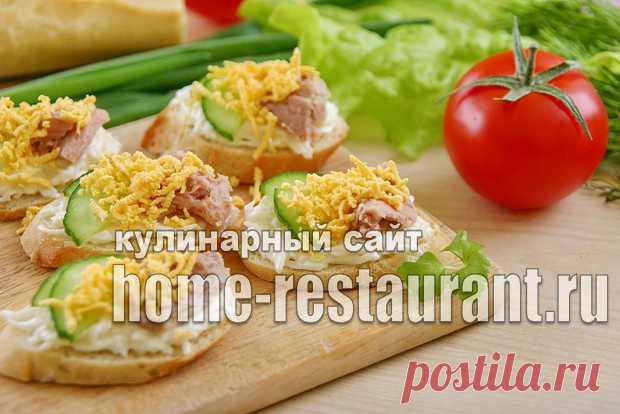 Бутерброды с тунцом консервированным: рецепт с яйцом и огурцом