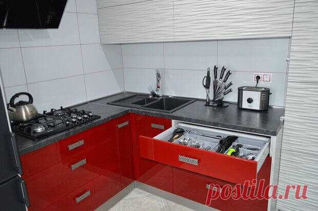 Kitchen: inexpensive option of re-planning and finishing