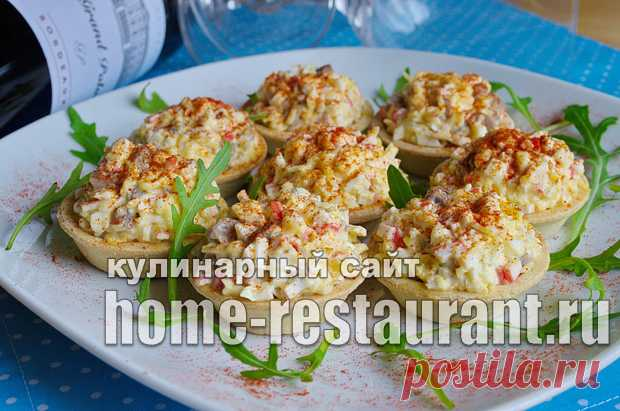 Начинка для тарталеток с крабовыми палочками и грибами - Домашний Ресторан