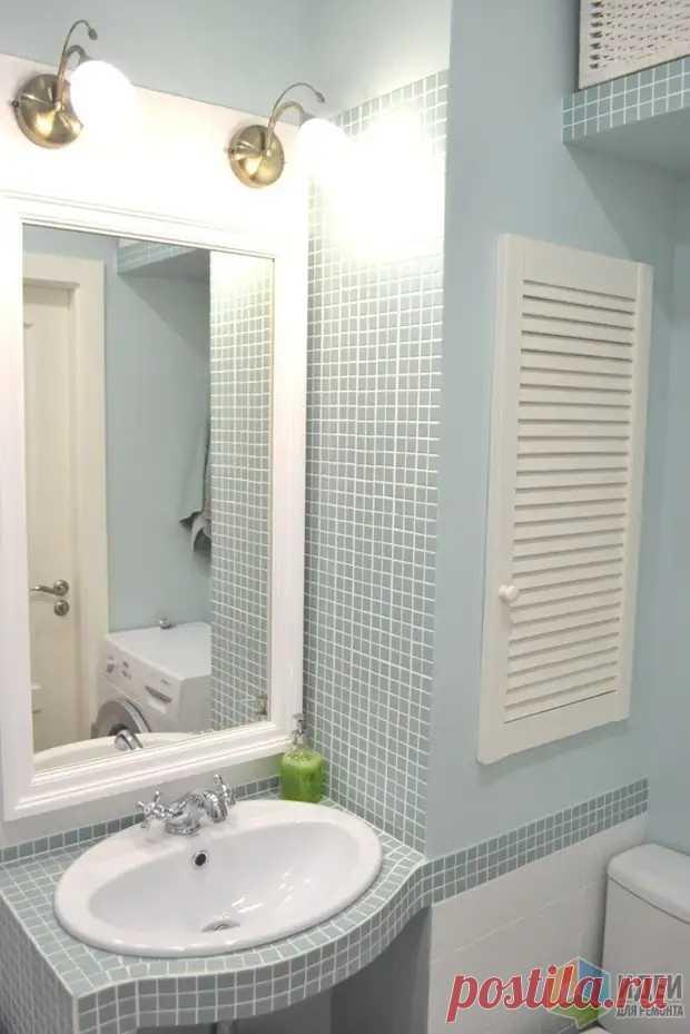 Ванная комната - островок цвета в белом-белом доме - Сам себе мастер - медиаплатформа МирТесен