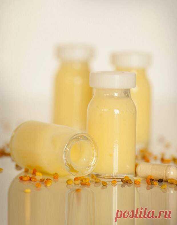"""Как принимать маточное молочко для иммунитета... - Познавательный сайт ,,1000 мелочей"""" - медиаплатформа МирТесен Мед и различные продукты пчеловодства с древних времен считались наиболее полезными природными лекарствами. Но самым эффективным является маточное молоко, которое пчелы используют для вскармливания молодых особей. В лекарственных целях применяют густую жидкость, содержащую концентрированные"""