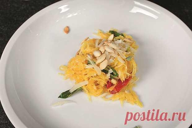 Спагетти-сквош с вялеными помидорами, пошаговый рецепт с фотографиями – итальянская кухня: закуски, основные блюда. «Еда»