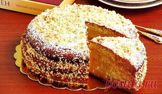 Торт «Александрия» со сметанным кремом Изысканный десерт из простых продуктов!