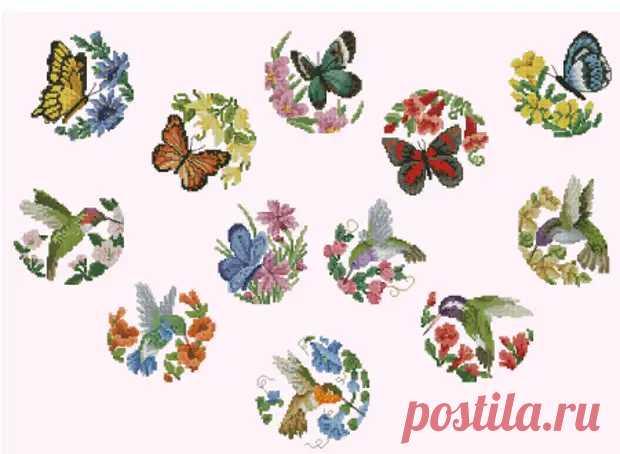 Миниатюра с бабочками и птицами - Домоводство - медиаплатформа МирТесен