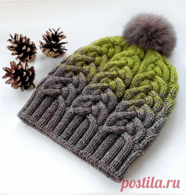 Шапки спицами с узорами из кос и жгутов - Modnoe Vyazanie ru.com