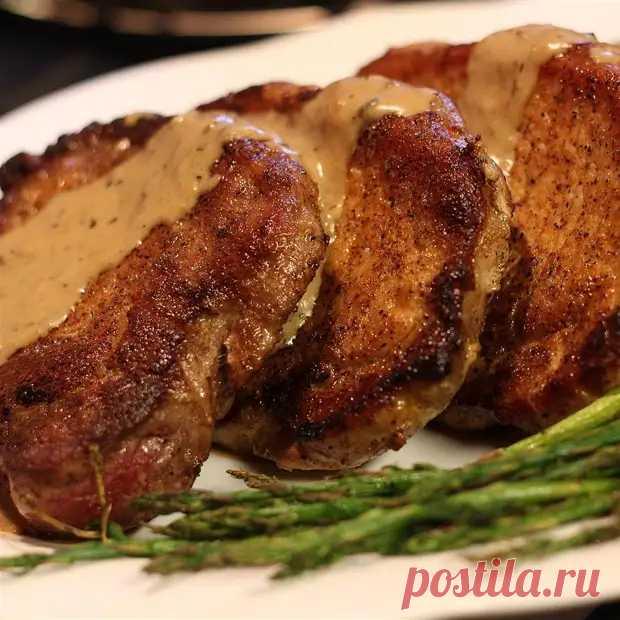 Свиные отбивные со сливочной подливой - безупречное сочное мясо - ФотоРецепт - медиаплатформа МирТесен