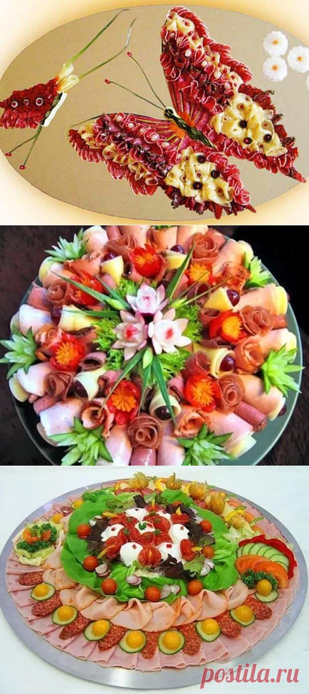 Красивое оформление мясных нарезок: идеи и примеры - Четыре вкуса - медиаплатформа МирТесен