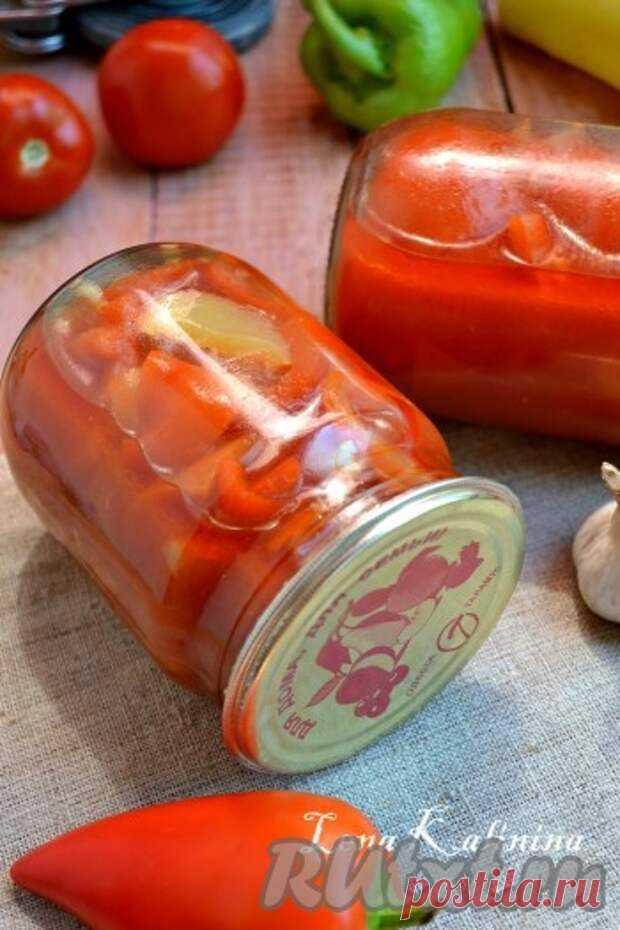 Сладкий перец в томате на зиму - Наш уютный дом - медиаплатформа МирТесен Сладкий перец в томате - очень вкусная заготовка на зиму. Невероятно ароматный перчик! Томат можно использовать для приготовления борщей и подлив. Рекомендую! Расчет дан на 4 пол-литровые баночки перца. Для приготовления сладкого перца в томате на зиму понадобится: перец болгарский сладкий