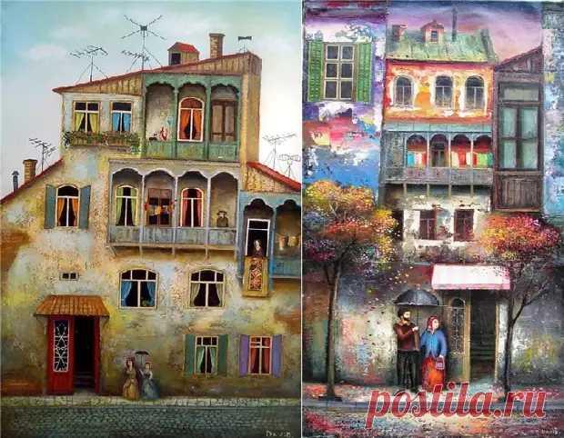 Любовная романтика с юмором и грузинским колоритом в наивной живописи Зураба Мартиашвили — vestinews