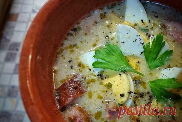 Журек — традиционный польский суп на ржаной закваске рецепт – польская кухня: супы. «Еда»
