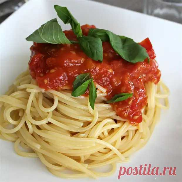 Соус для спагетти из свежих помидоров - ФотоРецепт - медиаплатформа МирТесен
