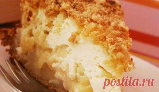 Восхитительный яблочный пирог с творожной начинкой
