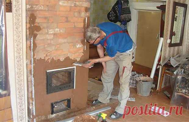 Furnace plaster: how to plaster that did not burst?