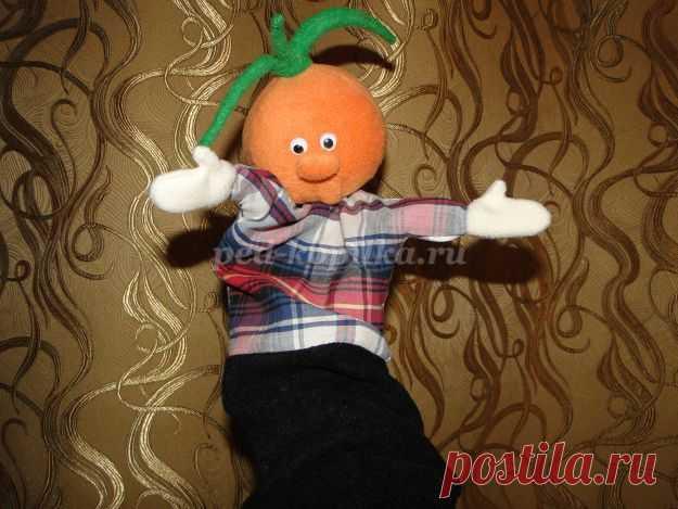 Перчаточная кукла Чиполлино своими руками. Мастер-класс с пошаговыми фото