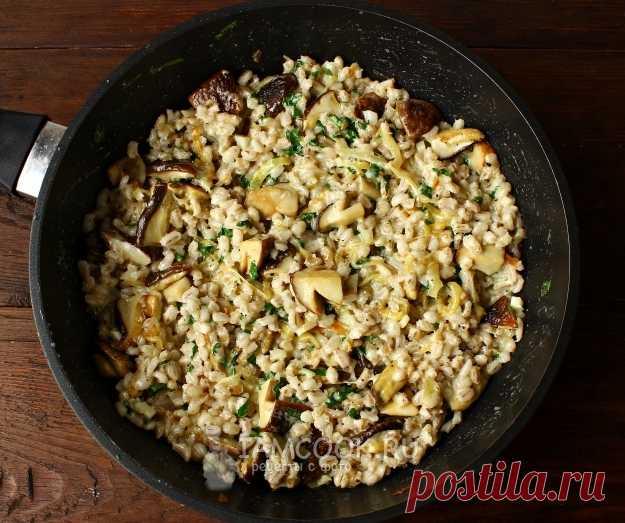 Перловая каша с грибами рецепт с фото пошагово #3