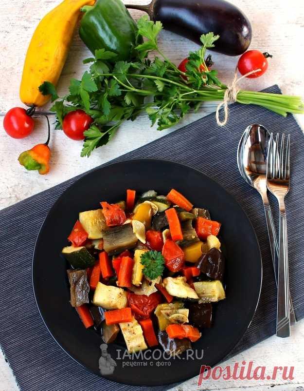 Соте из баклажанов и кабачков в мультиварке — рецепт с фото пошагово