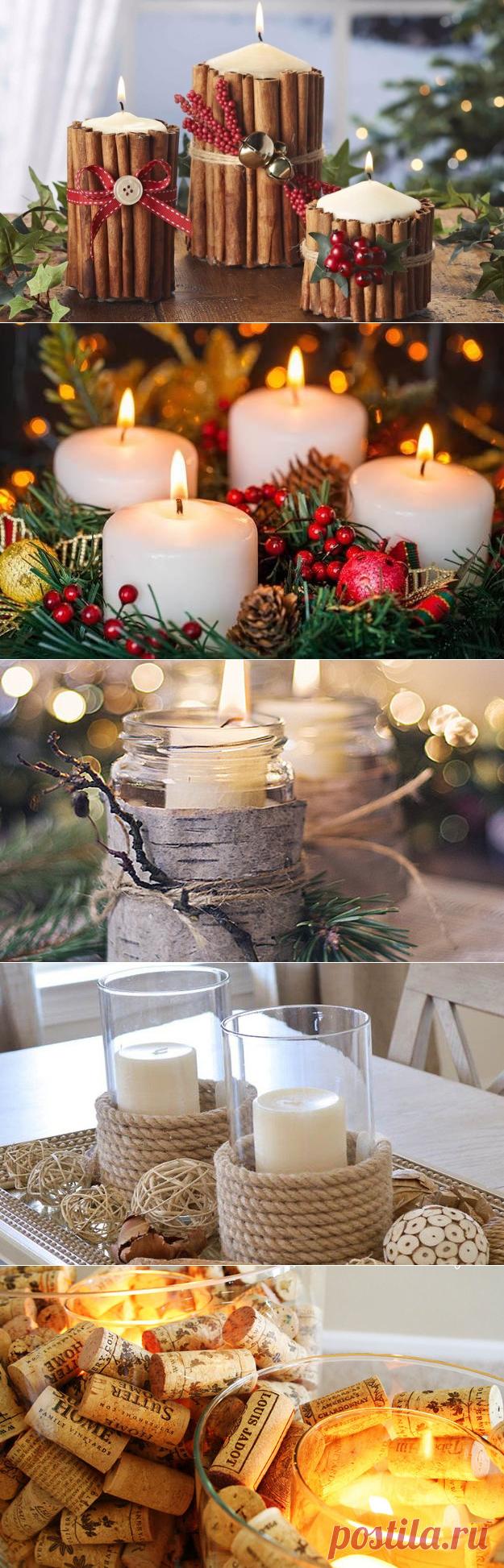 Оформляем новогодний стол: 7 оригинальных идей праздничный свечей - KitchenMag.ru