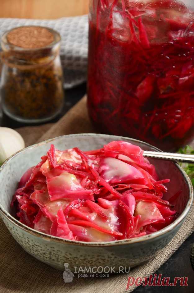 Капуста со свеклой по-корейски на зиму — рецепт с фото пошагово