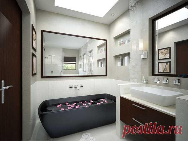 Как улучшить интерьер маленькой ванной комнаты: 10 классных идей - InMyRoom.ru