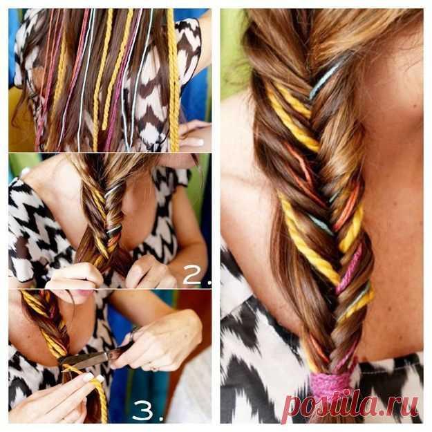 Los hilos en los cabellos