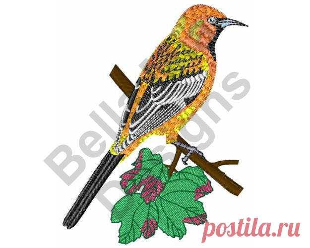 Racha de pájaro diseño de máquina del bordado respaldado | BORDADO A ...