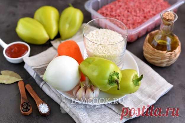 Фаршированный перец с соусом (подливкой) — рецепт с фото пошагово
