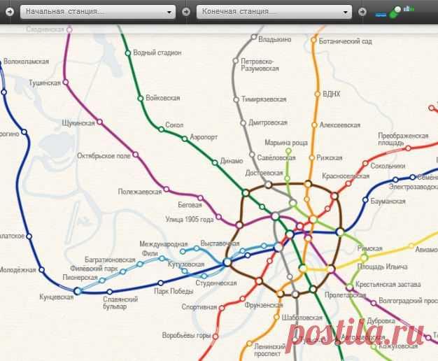 Карта метро москвы / интерактивная схема московского метро.