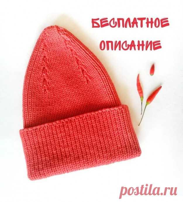Вяжем шапочку спицами