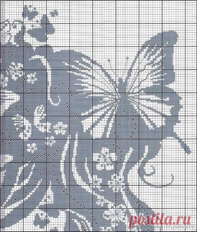 Монохромные схемы для вышивки крестом.
