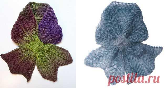 Идея для женского шарфика.