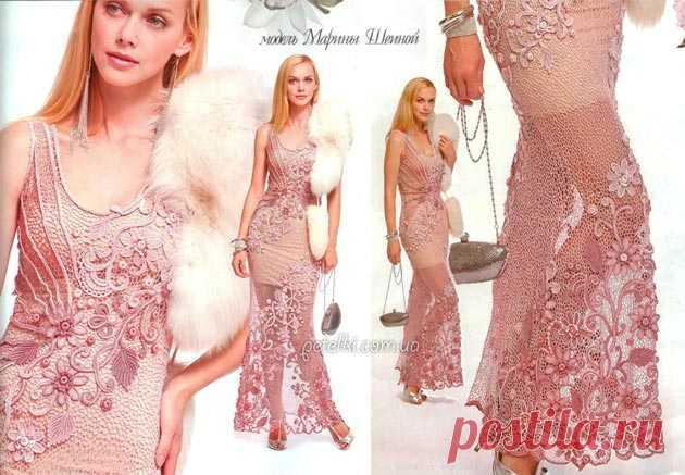 El vestido de ostentación de Marina Sheinoy. Como tejer.