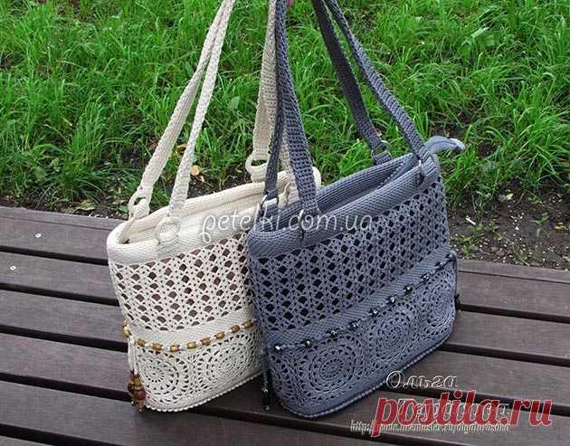 fd76f735d6af Вяжем сумочки от Ольги Тарасовой. Схемы | Вязание сумки | Постила