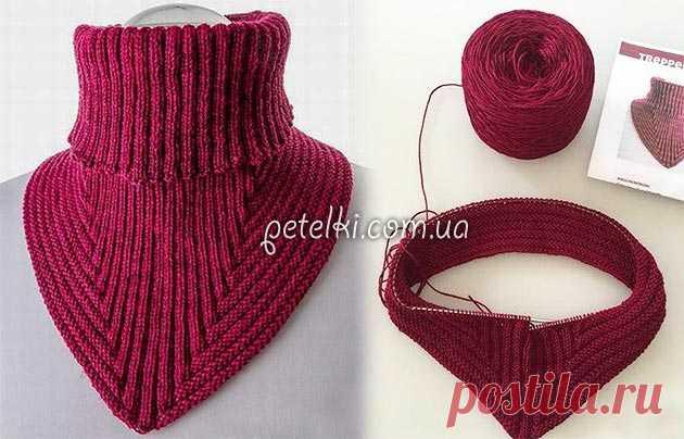 красивая манишка спицами описание и схемы вязания вязание постила