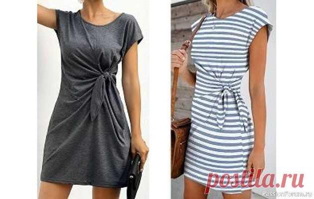Платье с японской завязкой на талии (шитье и крой) | Швейная мастерская