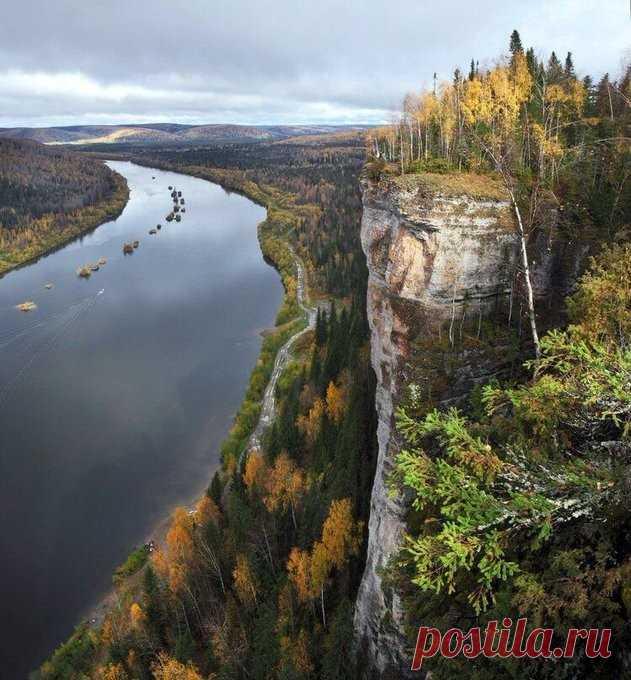 Это в Пермском крае такая красота, река Вишера