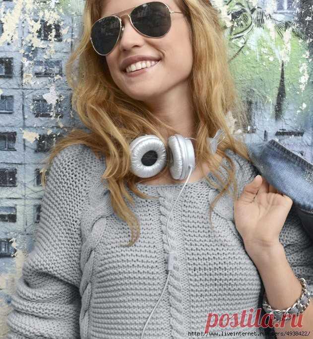 Вязание спицами - Пуловеры спицами - Шикарный пуловер от PHILDAR