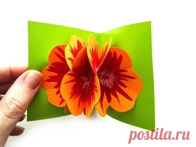 Поделка объемная открытка своими руками к 8 марта, днем рождения