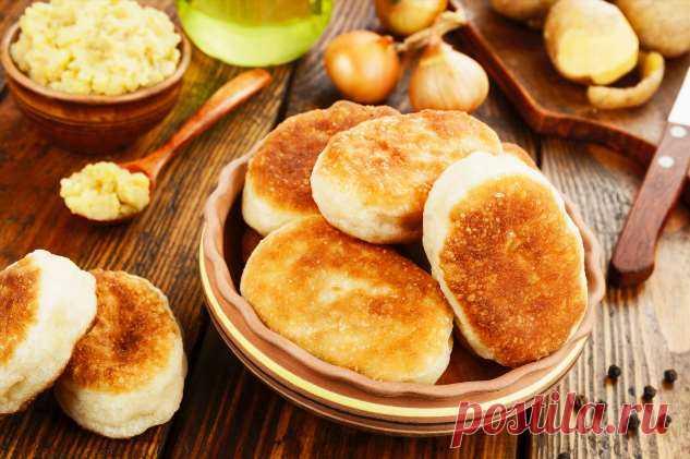 Как у бабушки: готовим пирожки из картошки с грибами . Милая Я