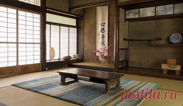 Как японцы хранят вещи в домах, в которых нет мебели . Милая Я