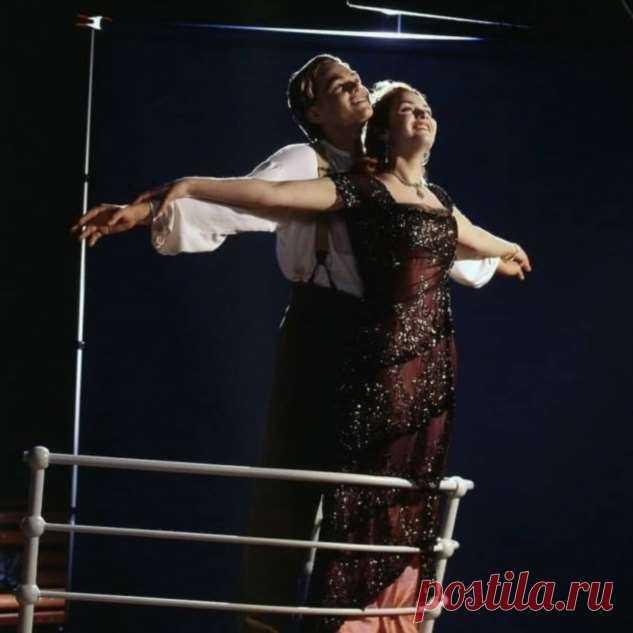 Кадры съемок фильма «Титаник» с Леонадро Ди Каприо и Кейт Уинслет . Тут забавно !!!