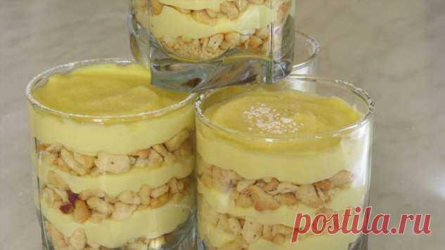 Фантастически  вкусный десерт: торт «Пломбир» в стакане .