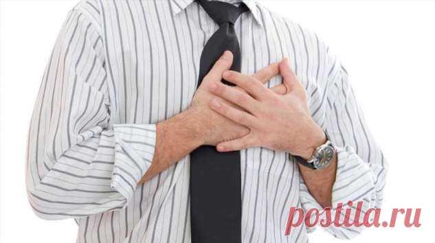 Боль и жжение в груди: названы первые симптомы инфаркта   Офигенная