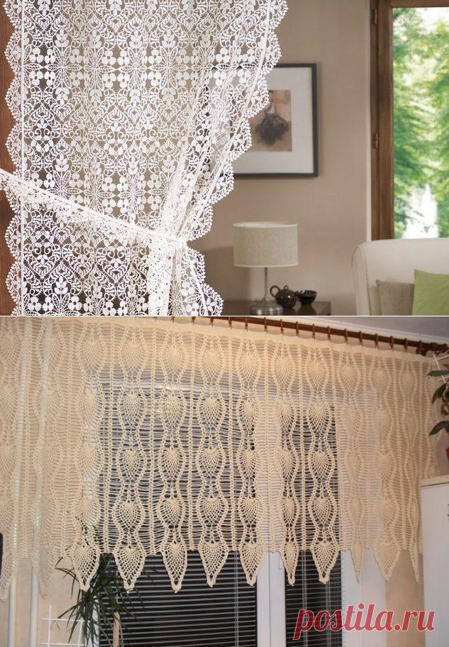 Вязаные шторы - основы дизайна и техники вязания крючком