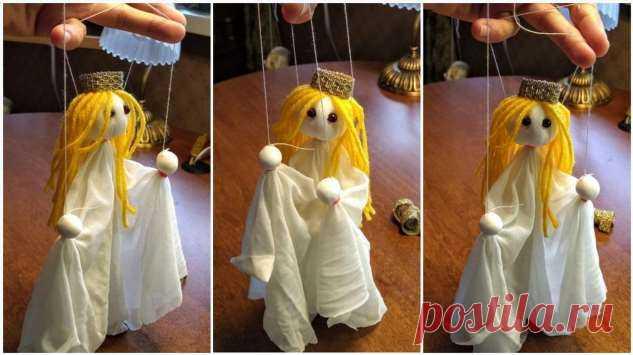 Мастер-класс: создаем принцессу-марионетку из подручных средств . Милая Я