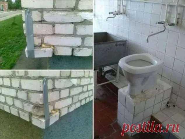 Нелепые ошибки строителей. Косяки строителей. Подборка №zabavatut-bild-29320120062020 . Тут забавно !!!