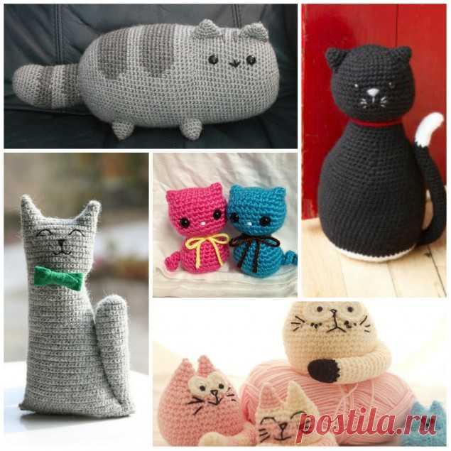 толстый кот крючком 5 забавных идей вязаные игрушки постила