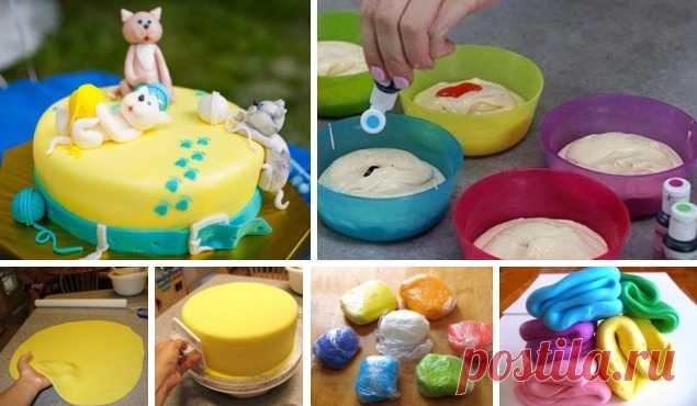 мастика дома рецепт с фото снизу пирожного находится