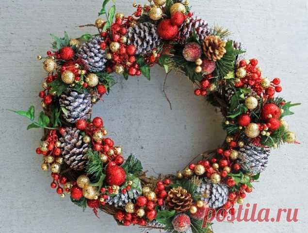 Традиционный рождественский венок своими руками - 5 красивых идей с